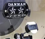 Pad de Bumbo Danmar 210DKST para Pedal Duplo Extra Resistente Ultra Kick Protetor de Pele de Bumbo