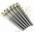 Parafusos de Afinação Torelli TA075 com 58mm (5,8cm) para Tons e Caixas Kit com 6 Unidades