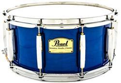 """Caixa Pearl Session Studio Classic Sheer Blue 14x6,5"""" Casco Híbrido em Birch e Kapur"""