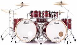 "Bateria Pearl Export EXL Lacquer Natural Cherry Double Bass 22"",22"",8"",10"",12""14"",16"" (Shell Pack)"