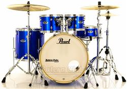 "Bateria Pearl Export EXX Series Mahogany High Voltage Blue 22"",10"",12"",16"" + Ferragens 830"