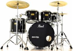 "Bateria Pearl Masters Custom MMX Maple Black Mist 22"",8"",10"",12"",16"" (Seminovo) Shell Pack"