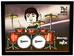 Quadro Pôster Mitos do Rock Keith Moon Banda The Who com Moldura e Vidro - Tamanho A3