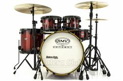 "Bateria RMV Concept Exclusive Red Sparkle Burst 22"",10"",12"",16"" com Ferragens"