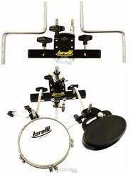 Clamp de Percussão Duplo Torelli TA452 Mini Rack para Fixar 2 Acessórios na Estante