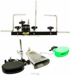 Clamp de Percussão Triplo Torelli TA453 Mini Rack para Fixar 3 Acessórios na Estante