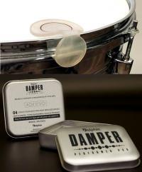Abafador de Tambores Dolphin Damper Kit com 4 Pads (Moongel) Filtre as Sobras da Bateria (12101)