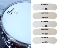 Abafador e Filtro de Tambores Aquarian Tone Tab TA1 Kit com 5 Unidades para Tons, Caixa e Surdo