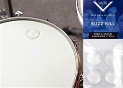 Abafador e Filtro de Tambores Vater Buzz Kill Extra Dry VBUZZXD com 4 Filtros Grandes tipo Moongel