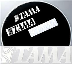 Adesivo de Bumbo Tama TLS80WH com Letras Brancas Original com 19cm de Largura