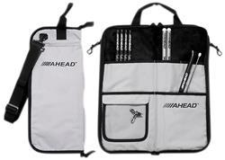 Bag de Baquetas Ahead SB3 Grey Plush Stick Case Padrão Top de Linha com Diversas Divisórias