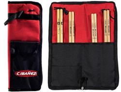 Bag de Baquetas C. Ibañez Spirit Bag Modelo Compacto para 10 pares com alça para fixar no surdo