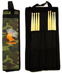 Bag de Baquetas Liverpool Compacta Camuflada COM02-BAG Tamanho Menor com Diversas Divisórias
