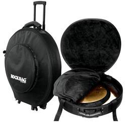 """Bag de Pratos Rockbag Deluxe RB 22740B Plus com Rodinhas Pratos até 22"""" Semi Case + Rígido e Robusto"""