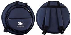 """Bag de Pratos Solid Sound Azul com 3 Divisões, Bolso Frontal para Pratos até 22"""" Alça de Mochila"""