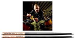 """Baqueta Ahead Drumsticks Signature Matt """"Spug"""" McDonoughs S7A (Padrão 7A) Poliuretano e Alumínio"""