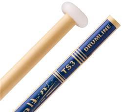 Baqueta Alba TS3 Tecnil Marching Band Drumline em Marfim para Caixa e Tenor (2146)