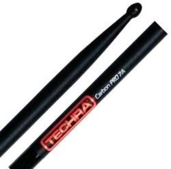 Baqueta Techra Carbon Pro 7A Fibra de Carbono Italiana dura muito mais que madeira mesmo timbre