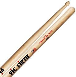 "Baqueta Vic Firth American Jazz AJ1 Hickory ""Padrão 5B"" (7339) Power Jazz"