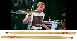 Baqueta Zildjian Signature Brooks Wackerman ASBW Avenged Sevenfold (Padrão 5B) Ponta de Nylon Red