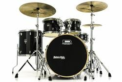 "Bateria D-One Street Series PS22 Black Light Sparkle 22"",10"",12"",16"" com Ferragens e Banco"