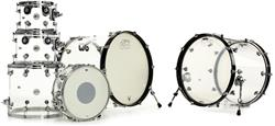 "Bateria DW Design Series Acrylic Shell Double Bass 22"",22"",8"",10"",12"",14"",16"" (Shell Pack)"