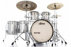 "Bateria Ludwig Classic Maple Silver Mist Sparkle 22"",10"",12"",14"",16"" (Shell Pack) Made in USA"