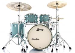 "Bateria Ludwig NeuSonic Made in USA Skyline Blue 20"",10"",12"",14"" (Shell Pack) Maple Cherry"