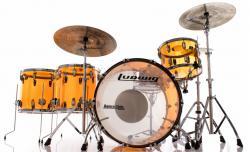 "Bateria Ludwig Vistalite Zep Set Amber John Bonham Led Zeppelin Bumbo 26"", Tom 14"", Surdos 16"" e 18"""