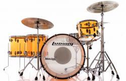 "Bateria Ludwig Vistalite Zep Set Amber John Bonham Led Zeppelin Bumbo 26"" (Seminovo)"