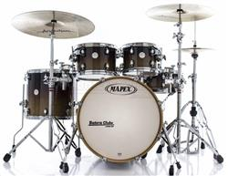 "Bateria Mapex Meridian Maple Rustic Brown Fade Limited Edition 20"",10"",12"",16"" e Caixa 13x6"""