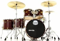 "Bateria Mapex Orion Exotic Birdseye Wine 20"",10"",12"",14"",16"" com Caixa 14x6,5"" Shell Pack (Seminovo)"