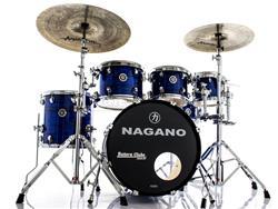 "Bateria Nagano Concert Celluloid Birch Brooklin Blue 20"",8"",10"",12"",14"" com Kit de Ferragens"