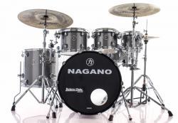 "Bateria Nagano Concert Celluloid Birch Iron Sparkle 20"",8"",10"",12"",14"" com Kit de Ferragens"