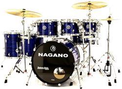"Bateria Nagano Concert Full Celluloid Birch Brooklin Blue 22"",8"",10"",12"",14"",16"" com Kit Ferragens"