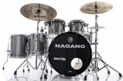 "Bateria Nagano Concert Full Celluloid Birch Iron Sparkle 22"",10"",12"",14"",16"" com Kit de Ferragens"