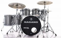 "Bateria Nagano Concert Full Celluloid Birch Iron Sparkle 22"",8"",10"",12"",14"",16"" c/ Kit de Ferragens"