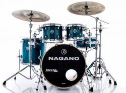 "Bateria Nagano Concert Lacquer Deep Blue 20"",10"",12"",14"" com Kit de Ferragens"
