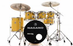 """Bateria Nagano Garage Fusion Yellow Race 20"""",8"""",10"""",12"""",14"""" com Peles Hidráulicas e Banco"""