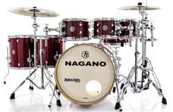 "Bateria Nagano Work Series Birch Red Sparkle 20"",8"",10"",12"",14"",16"" com Ferragens Top da Marca"
