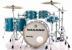"Bateria Nagano Work Series Blue Bondi Sparkle 20"",10"",12"",14"",16"" com Ferragens Top da Marca"