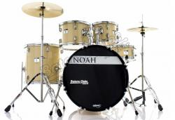 "Bateria Noah SC5 Series Natural Wood 22"",10"",12"",16"" com Pratos, Banco e Ferragens"