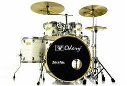 "Bateria Odery Fluence Jam Session FL.220 White Ash Maple 22"",10"",12"",16"" com Kit de Ferragens"