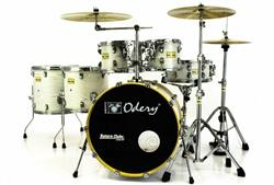 "Bateria Odery Fluence Jam Session FL.220 White Ash Maple 22"",10"",12"",14"",16"" com Kit de Ferragens"