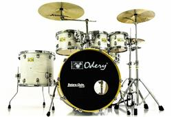 "Bateria Odery Fluence Jam Session FL.220 White Ash Maple 22"",8"",10"",12"",16"" com Kit de Ferragens"