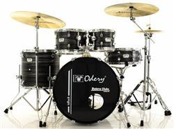 """Bateria Odery inRock IR.80 Black Mist Jazz com Bumbo 18"""",10"""",12"""",14"""" com Ferragens e Banco"""