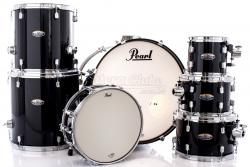 "Bateria Pearl Decade Maple Black Ice Lacquer 22"",8"",10"",12"",14"",16"" (Shell Pack)"