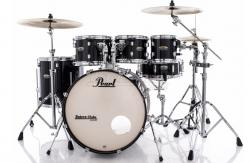 "Bateria Pearl Decade Maple Black Ice Lacquer 20"",8"",10"",12"",14"" com Kit Ferragens 830"