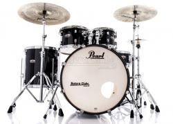 "Bateria Pearl Decade Maple Black Ice Lacquer 22"",10"",12"",16"" com Kit Ferragens 830"