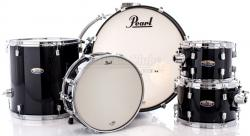 "Bateria Pearl Decade Maple Black Ice Lacquer 22"",10"",12"",16"" com Caixa (Shell Pack)"
